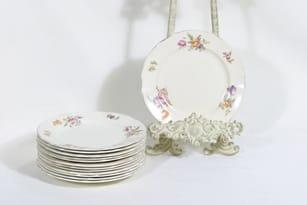 Arabia Kesäkukka lautaset, pieni, 13 kpl, suunnittelija , pieni, siirtokuva