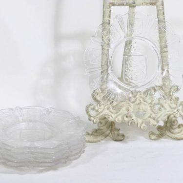 Iittala Suomi-lautanen lautaset, kirkas, 6 kpl, suunnittelija Alfred Gustafsson, pieni, vaakuna-aihe