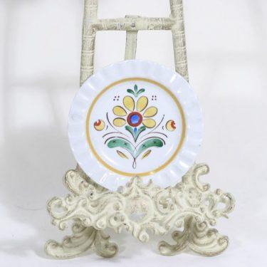 Arabia Allmoge koristelautanen, käsinmaalattu, suunnittelija , käsinmaalattu, pieni