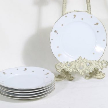 Arabia Kultaleima plates, 6 pcs, small, transfer decoration