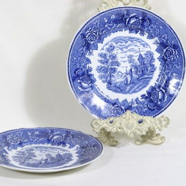 Arabia Maisema dinner plates, 2 pcs, copper ornament