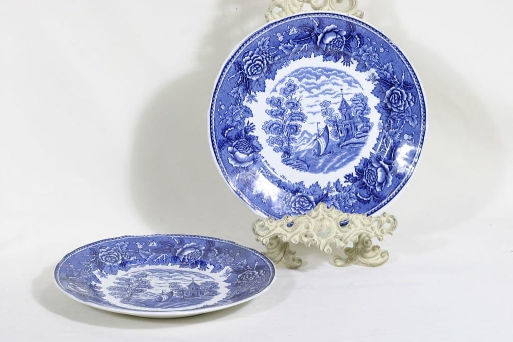Arabia Maisema lautaset, matala, 2 kpl, suunnittelija , matala, kuparipainokoriste