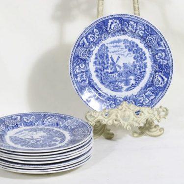 Arabia Maisema lautaset, pieni, 10 kpl, suunnittelija , pieni, matala, kuparipainokoriste