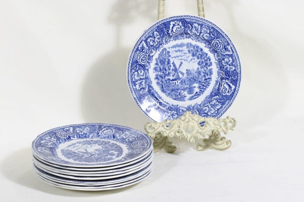 Arabia Maisema plates, small, 10pcs, copper ornament