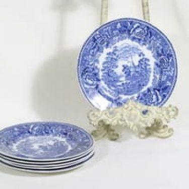 Arabia Maisema lautaset, pieni, 5 kpl, suunnittelija , pieni, matala, kuparipainokoriste