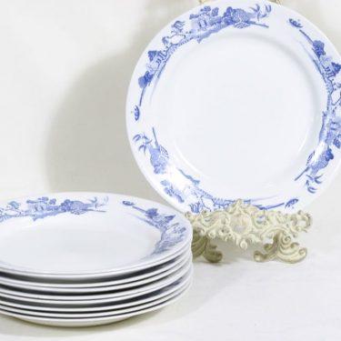 Arabia n5625 lautaset, matala, 10 kpl, suunnittelija , matala, kuparipainokoriste