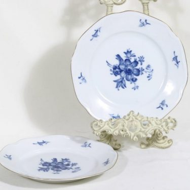 Arabia FQ lautaset, kukkakuvio, 2 kpl, suunnittelija , kukkakuvio, kuparipainokoriste, pieni