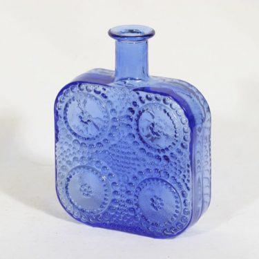 Riihimäen lasi Grapponia koristepullo, sininen, suunnittelija Nanny Still,