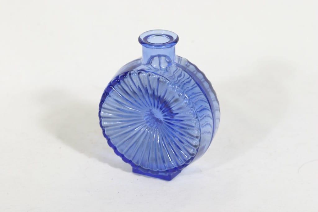 Riihimäen lasi Aurinkopullo koristepullo, sininen, suunnittelija Helena Tynell, vaalea VIII