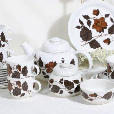 Arabia Tea for two teeastiasto 5:lle, suunnittelija Gunvor Olin-Grönqvist,