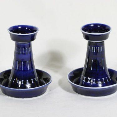Arabia Valencia kynttilänjalat, käsinmaalattu, 2 kpl, suunnittelija Ulla Procope, käsinmaalattu, signeerattu