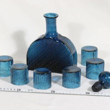 Riihimäen lasi 1709 karahvi ja lasit, 50 cl, 6 kpl, suunnittelija Nanny Still, 50 cl kuva 2