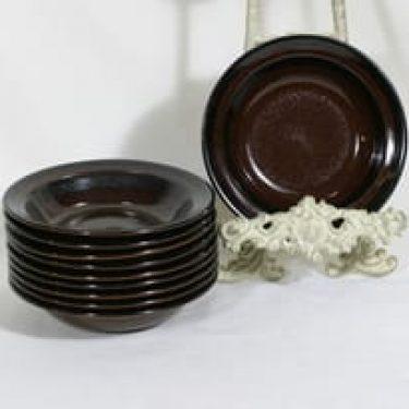 Arabia Soraya lautaset, syvä, 10 kpl, suunnittelija Gunvor Olin-Grönqvist, syvä