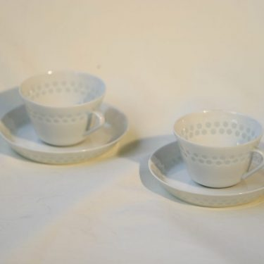 Arabia Helmi kahvikupit, 2 kpl, suunnittelija Friedl Holzer-Kjellberg,