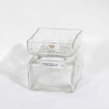 Riihimäen lasi Pala maljakko, kirkas, suunnittelija Helena Tynell,