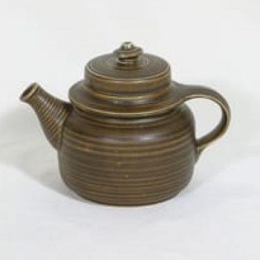 Arabia Kaarna teekannu, ruskea, suunnittelija , pieni