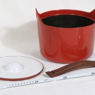 Rosenlew Sarpaneva-pata pata, punainen, suunnittelija Timo Sarpaneva,  kuva 3