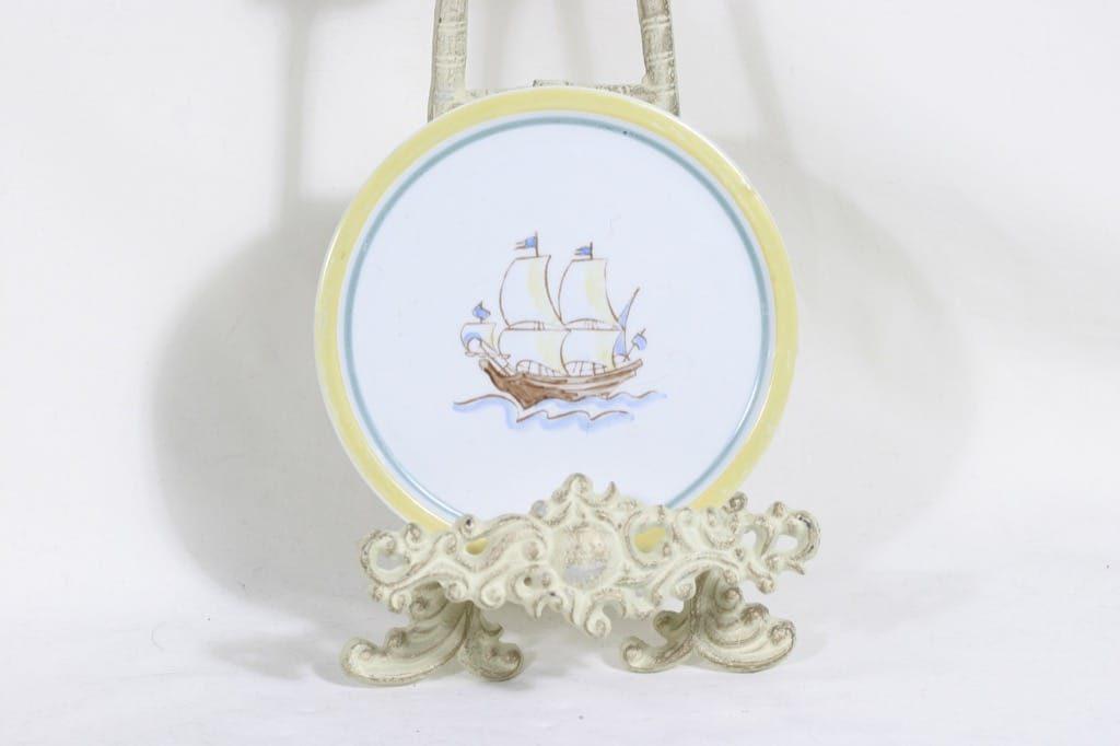 Arabia Sailor seinälautanen, käsinmaalattu, suunnittelija , käsinmaalattu