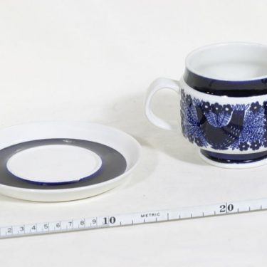 Arabia Sinilintu muki, 50 cl, suunnittelija Raija Uosikkinen, 50 cl, käsinmaalattu kuva 2