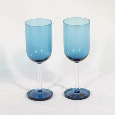 Riihimäen lasi Harlekiini mehulasit, 15 cl, 2 kpl, suunnittelija Nanny Still, 15 cl, jalallinen