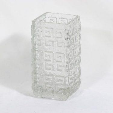 Riihimäen lasi Taalari maljakko, kirkas, suunnittelija Tamara Aladin,