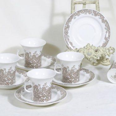 Arabia Veronica kahvikupit, 5 kpl, suunnittelija ,