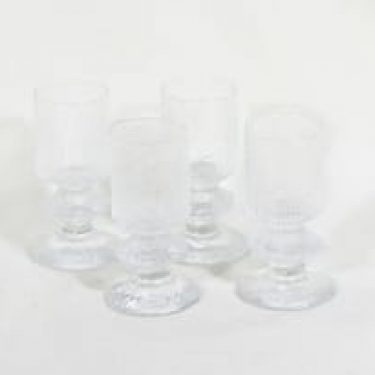 Iittala Senaattori lasit, 10 cl, 4 kpl, suunnittelija Timo Sarpaneva, 10 cl