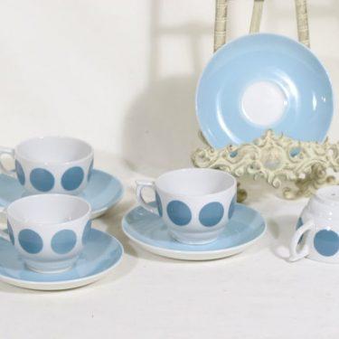 Arabia Molla kahvikupit, 4 kpl, suunnittelija Greta-Lisa Jäderholm-Snellman, puhalluskoriste, retro