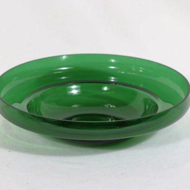 Riihimäen lasi Pomona kulho, vihreä, suunnittelija Helena Tynell,