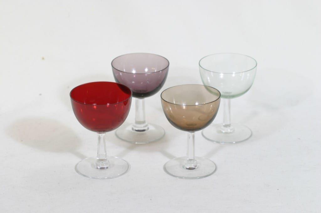 Nuutajärvi 1125 lasit, 8 cl, 4 kpl, suunnittelija Saara Hopea, 8 cl