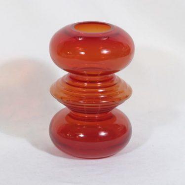 Riihimäen lasi Tiimalasi maljakko, punainen, suunnittelija Nanny Still,