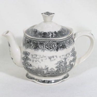 Arabia Maisema teekannu, harmaa, suunnittelija , kuparipainokoriste