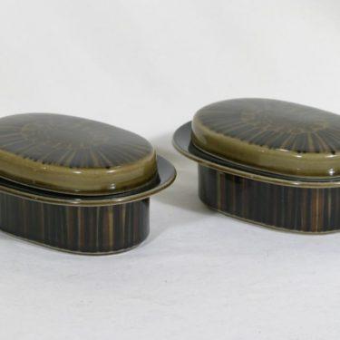 Arabia Kosmos rasiat, käsinmaalattu, 2 kpl, suunnittelija Gunvor Olin-Grönqvist, käsinmaalattu
