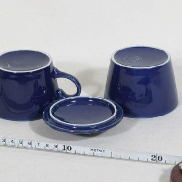 Arabia Kilta sokerikko ja kermakko, sininen, suunnittelija Kaj Franck,  kuva 3