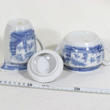 Arabia Singapore sokerikko ja kermakko, sininen, suunnittelija , kuparipainokoriste kuva 2