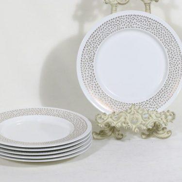 Arabia Kimmel lautaset, 6 kpl, suunnittelija Esteri Tomula, pieni, serikuva