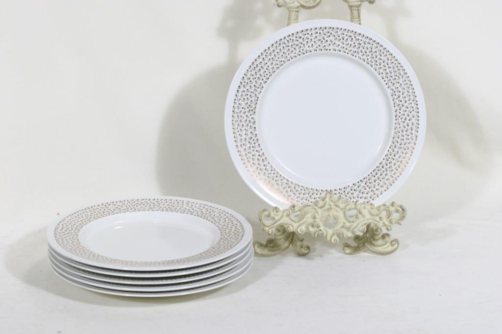 Arabia Kimmel lautaset, 6 kpl, suunnittelija, designer Esteri Tomula, silk screening