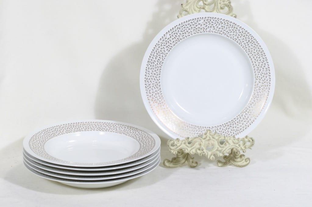 Arabia Kimmel soup plates, 6 pcs, designer Esteri Tomula, silk screening