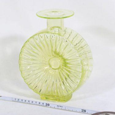 Riihimäen lasi Aurinkopullo koristepullo, keltainen, suunnittelija Helena Tynell, sävy II kuva 2