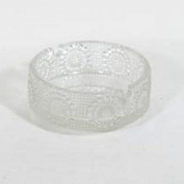 Riihimäen lasi Grapponia tuhka-asitia, kirkas, suunnittelija Nanny Still,