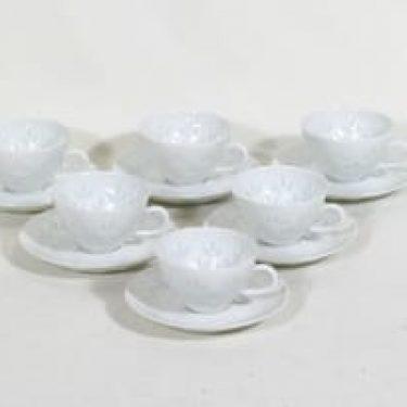 Arabia riisiposliini mokkakupit, 8 cl, 6 kpl, suunnittelija , 8 cl
