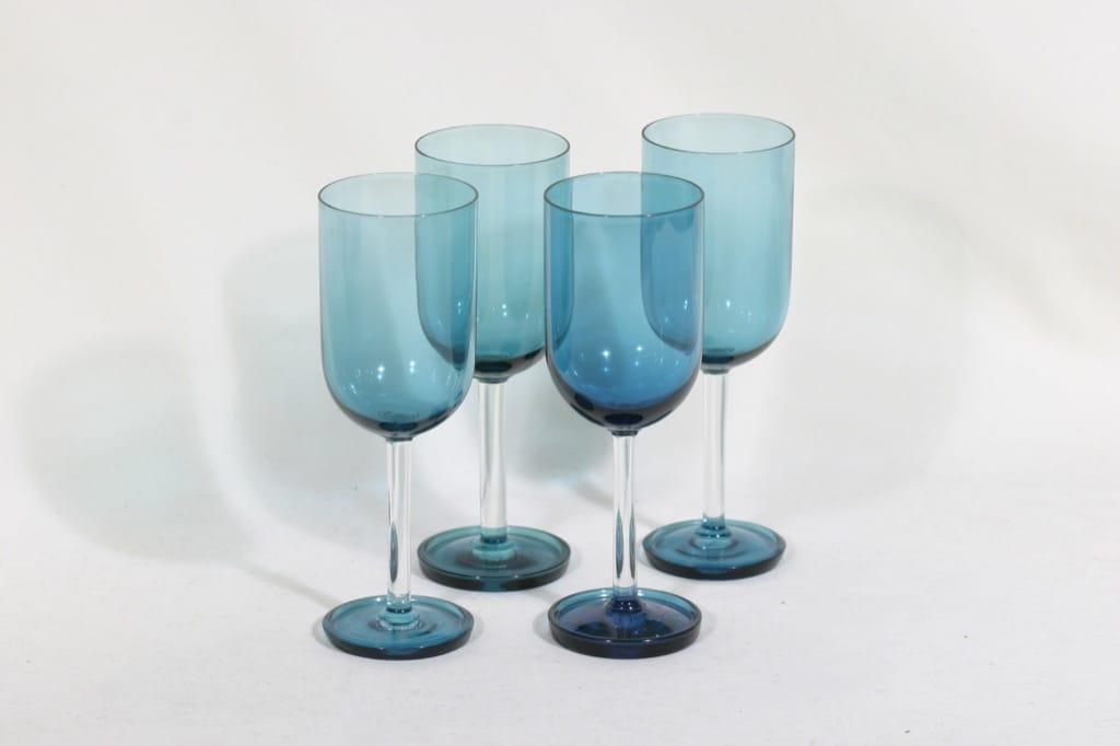 Riihimäen lasi Harlekiini mehulasit, 15 cl, 4 kpl, suunnittelija Nanny Still, 15 cl, jalallinen