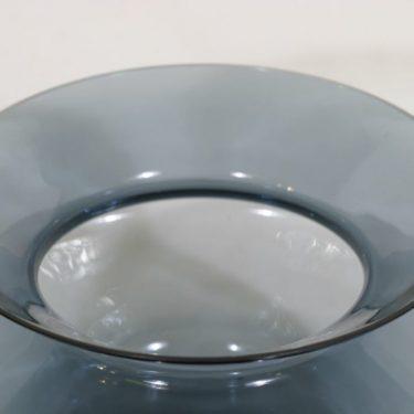 Riihimäen lasi Hyrrä maljakko, siniharmaa, suunnittelija Helena Tynell,  kuva 2