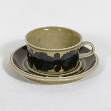 Arabia Otso teekuppi, käsinmaalattu, suunnittelija Raija Uosikkinen, käsinmaalattu