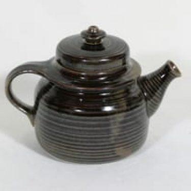 Arabia Mahonki teepannu, ruskea, suunnittelija Ulla Procope, pieni