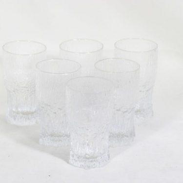 Iittala Aslak lasit, 40 cl, 6 kpl, suunnittelija Tapio Wirkkala, 40 cl