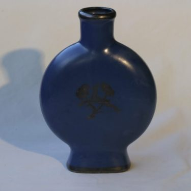 Arabia maljakko, sininen, suunnittelija Greta-Lisa Jäderholm-Snellmann, painokoriste, Art Deco