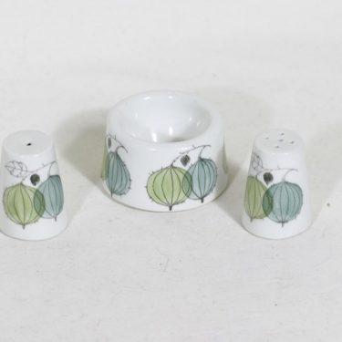 Arabia Marja munakuppi ja sirottimet, käsinmaalattu, 2 kpl, suunnittelija , käsinmaalattu