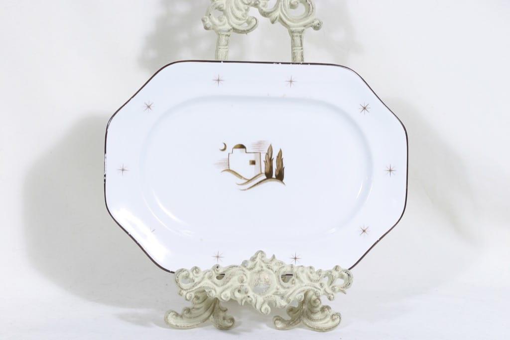 Arabia Orient platter, designer Greta Lisa Jäderholm-Snellman, transfer decoration, art deco