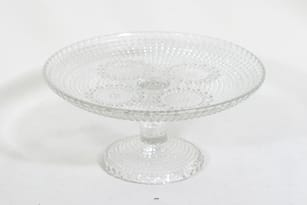 Riihimäen lasi Grapponia leivostarjotin, kirkas, suunnittelija Nanny Still,